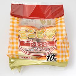 画像:ミニピザサラミ&ベーコン 10枚